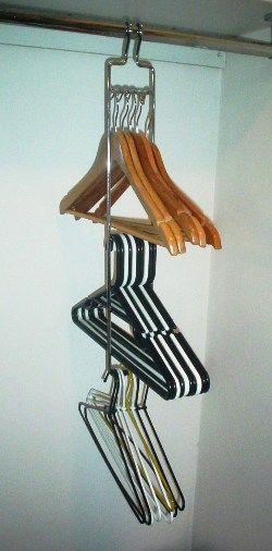 Clothes / Coat Hanger Storage Rack,